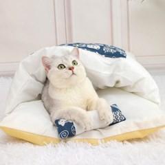 캣배딩 고양이 베개+이불(55x40cm) 강아지 쿠션 방석