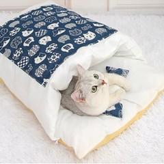 캣배딩 고양이 베개+이불(65x46cm) 애견침대 쿠션
