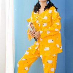 양떼목장 잠옷세트(XL) (옐로우)