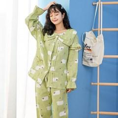 양떼목장 잠옷세트(XL) (그린)