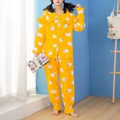 양떼목장 잠옷세트(M) (옐로우)