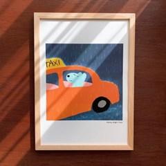 Rainy Night Taxi 포스터 (A3)