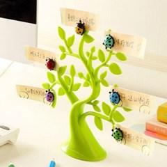 귀여운 무당벌레 자석 예쁜 포인트소품 나무모양 메모 사진 꽂이