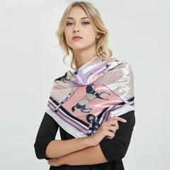 올리비아 사각 스카프(바이올렛) 여성 데일리스카프