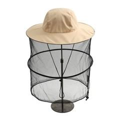 해충방지 모기장 방충모자(크림)/ 낚시 벌초모자