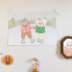 겨울 일러스트 포스터 / 봄사무소 / A3 포스터