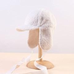 러블리 리본 귀달이 모자(화이트)