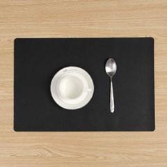 모던 양면 가죽 테이블매트(블랙+레드) 식탁 데코매트