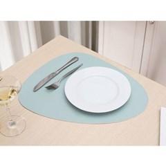 페블 양면 가죽 테이블매트 식탁 데코매트