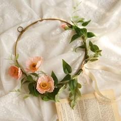 꽃잎이아련 양귀비 골드링조화리스 [3color]_(901558)