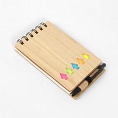 대나무 접착메모지 핸디수첩