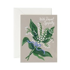 Lily of the Valley Sympathy Card 위로 카드