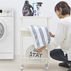 세탁실틈새수납장 다용도 주방 세탁실 트롤리 선반