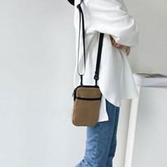 캐쥬얼 핸드폰 가방 지퍼 스트랩 스퀘어 크로스백