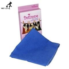 페티존 극세사 타올 파랑 애완용품