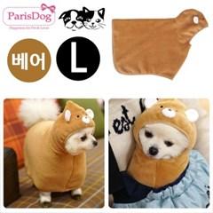 패리스독 캐릭터 웜 강아지 가운 베어 L