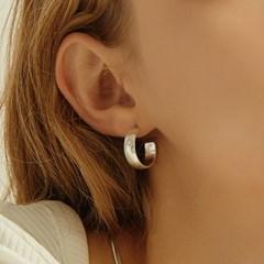 [이사배 착용]matte hoop earring