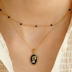 [문별,김소은,지숙 착용][silver925]Black spinel necklace