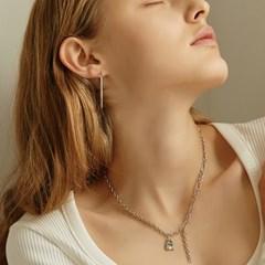 [채령,미미,소유진 착용]mode square pendant necklace