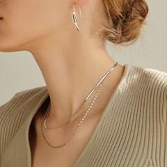 [오마이걸 미미 착용][silver925]claire layered necklace