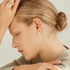 [류이서,지숙 착용][silver925]half pearl hook earring