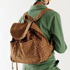 [바쿠백] 드로스트링 캔버스 백팩 Nutmeg Leopard (New)_(5669388)