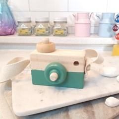 귀여운 디자인의 파스텔 컬러 포인트 인테리어 목재 카메라 소품