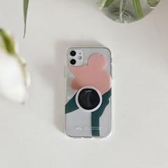 [스리살짝] life colour kkot(clear) 라이프컬러 꽃 투명젤리 케이스