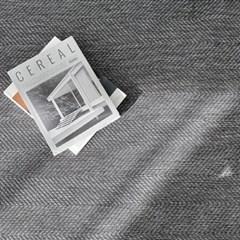 헤링본 투톤 워셔블 러그 먼지없는 사계절 단모 카페트 4컬러 5size