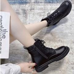 [코지23] 여자 베이직 패션 다이콘 버클 레이스업 워커