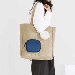 BLOCK BAG BEIGE