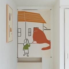 거대고양이 일러스트 패브릭 포스터 / 가리개 커튼