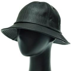 KJU04.인조가죽 6각 벙거지 모자 버킷햇 힙합 챙모자 봄 가을