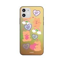 아이폰6+ 6S플러스 러브베어패턴 홀로그램 미러케이스