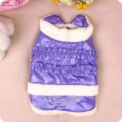 애견 올인원 패딩 퍼플 S 1P 강아지옷 애견옷 점퍼