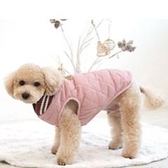 패리스독 얼스 컬러 퀼팅패딩 핑크 애견 겨울옷