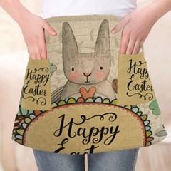 귀여운 디자인의 실용적인 다용도 토끼 반 앞치마