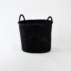 [모던하우스] 윌로우 라이크 플라스틱 원형바구니 블랙