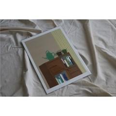민트초코별 인테리어그림 [초록이] A3/A2 일러스트 포스터