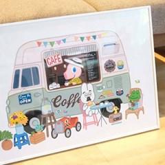 굴리굴리 포스터 FRESH CAFE (089)