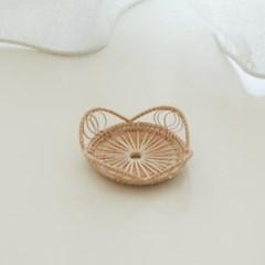 모먼트 라탄 코스터 꽃잎모양
