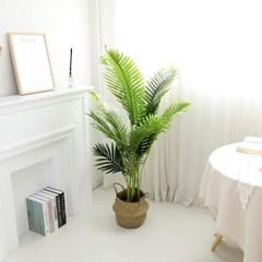 인조나무 그린 아레카야자 140cm 조화 화분 야자나무_(2349060)