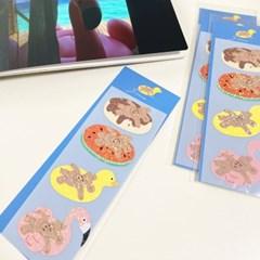 네고메 여름 홀로그램 씰스티커 2종