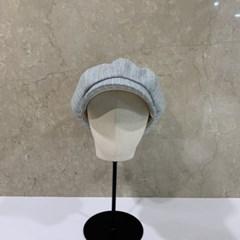 챙넓은 줄무늬 스트라이프 헌팅캡 마도로스 모자