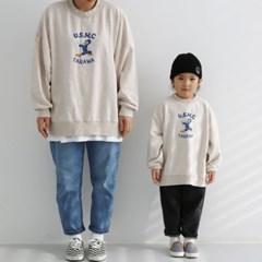 열) 맘커플 오리 아동 맨투맨-주니어까지