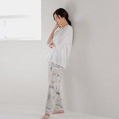 그림 면모달 잠옷바지(그레이)