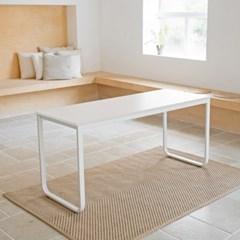 옴므 라운딩 철제 책상 테이블 1500  프레임&상판 색상 선택