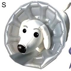 강아지 목 보호대 애견 넥카라 깔대기 상처 튜브형 S