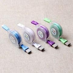 USB 마이크로 5핀릴케이블(90cm) / 컴퓨터연결잭