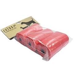 쥬쥬베 휴대용 배변 봉투 리필 30매 3롤 색상랜덤